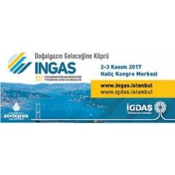 INGAS 2017 (7. Uluslararası Doğalgaz Kongre ve Fuarı), Uluslararası Gaz Birliği (IGU) ve Avrupa Gaz Araştırma Grubu (GERG) üyesi olan İGDAŞ'ın ev sahipliğinde 2-3 Kasım 2017 tarihlerinde İstanbul Haliç Kongre Merkezi'nde düzenlenecek.