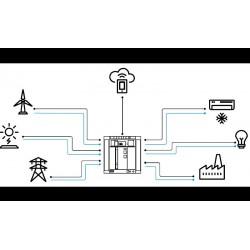 1 - Emax 2 açık tip devre kesici, güç ve veri akışlarını yönetmek suretiyle alçak gerilim güç dağıtım sistemlerinin akıllı merkezi haline gelmektedir.