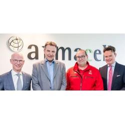 Fotoğraf soldan sağa:   Georges   Lieven-Decroos (SOL), Patrick   Mathieu (Armacell),Marc Feltgen (SOL), Norman Rafael (Armacell)