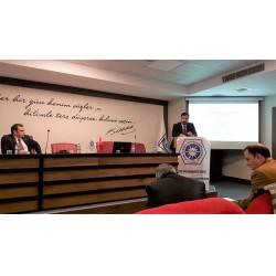 Aldağ İş Geliştirme Müdürü Hamza SONKUR 'un konuşmacı olduğu seminerin oturum başkanlığını Aldağ A.Ş. Bölgeler Satış Koordinatörü R. Doruk OFLAZ yaptı.