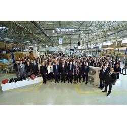 Arçelik-LG'nin fabrikası, toplamda 1,5 milyon adet ev tipi klima üretim kapasitesine sahip.