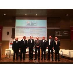 """MTMD, """"Yapı İşlerinde Geçici Kabul Süreçleri Paneli"""" Panelisleri ve MTMD Başkanı İbrahim Biner"""