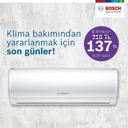 Bosch Termoteknik, indirimli klima bakım kampanyası için son bir hafta
