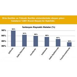 Grafik 2: Orta/Yüksek Gerilim Sistemlerindeki İzolasyon Hataları [4]